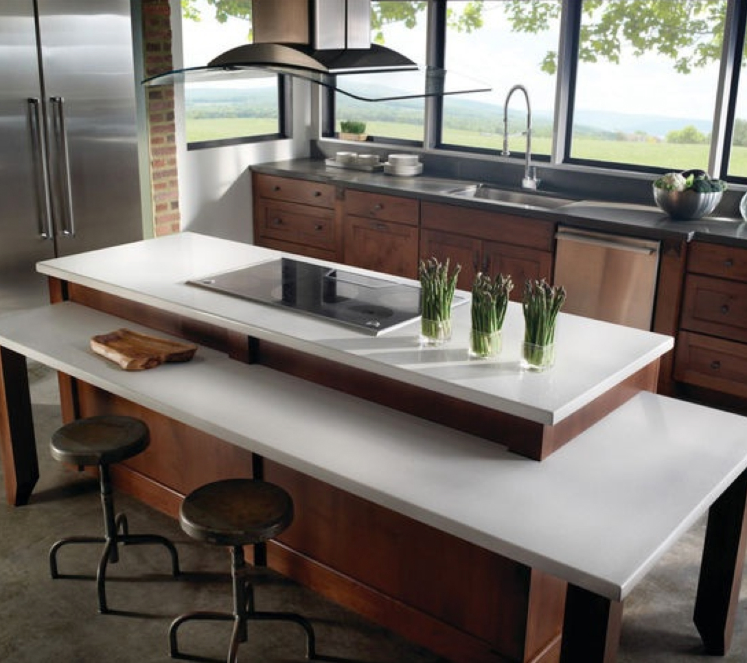 Kitchen Bar Overhang: Small Space Solution: Kitchen Breakfast Bar