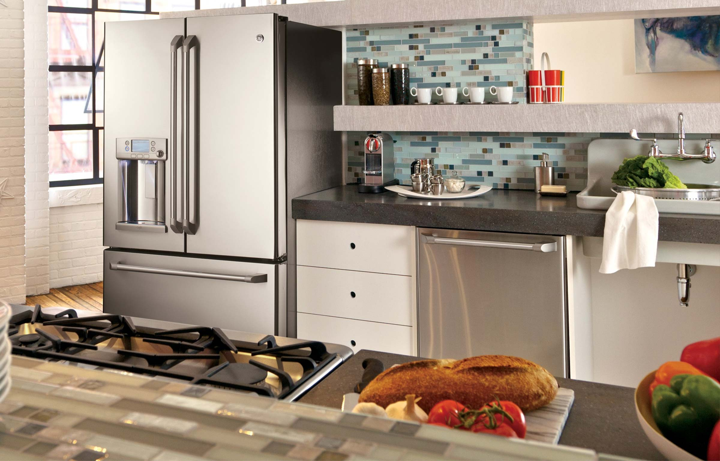 slate vs. stainless steel | kitchen design blog