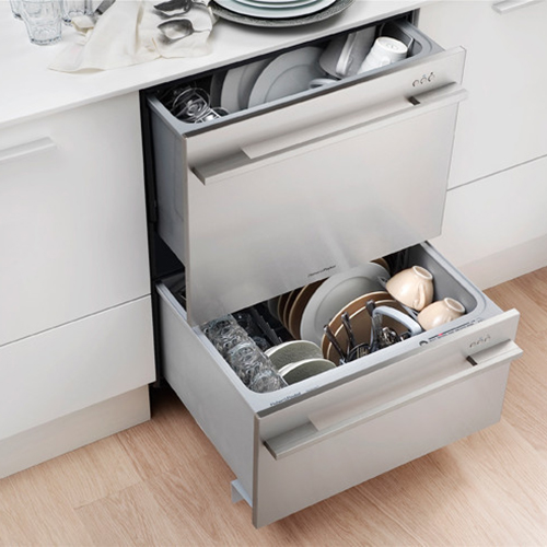 Instead Of Two Racks Sliding Out Behind A Single Door Like A Conventional  Dishwasher, The Fisher U0026 Paykel DishDrawer™ U0026 Double DishDrawer™ Have A  Single Or ...