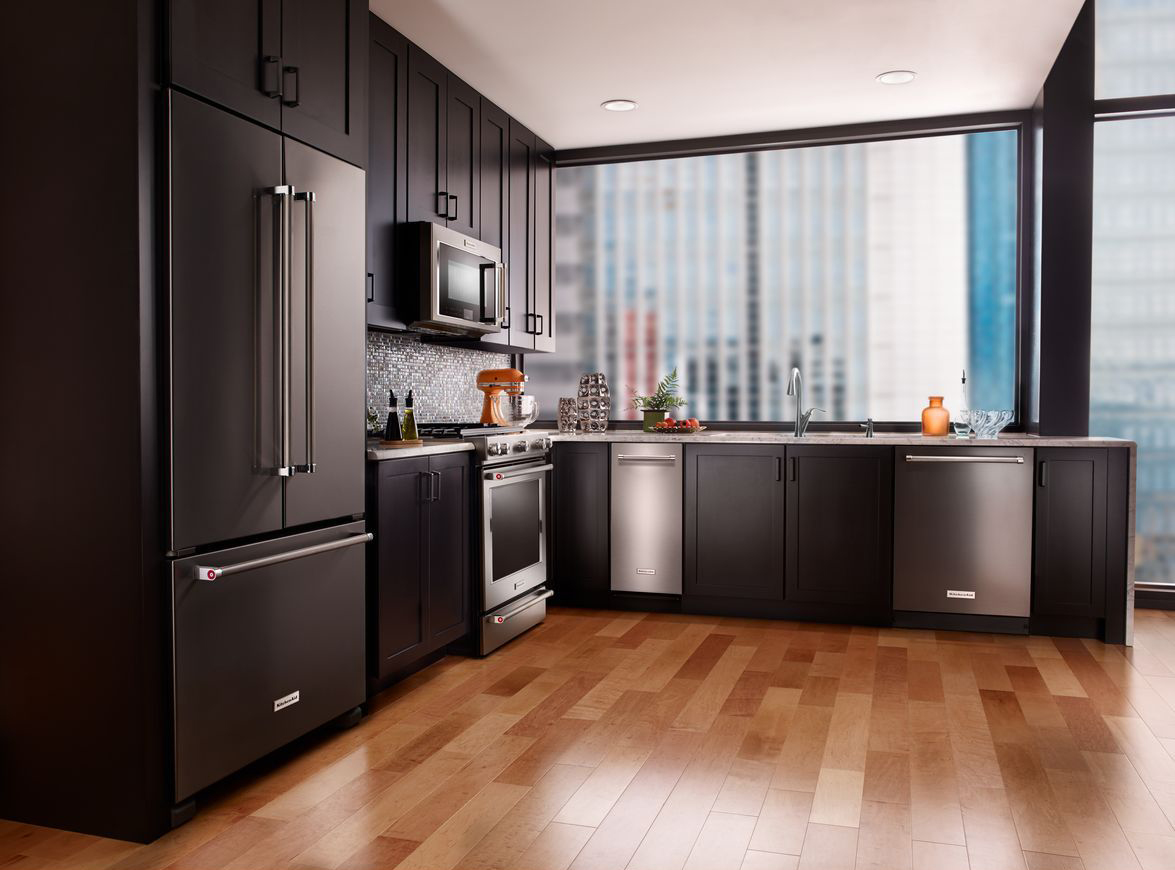 black stainless steel | kitchen design blog