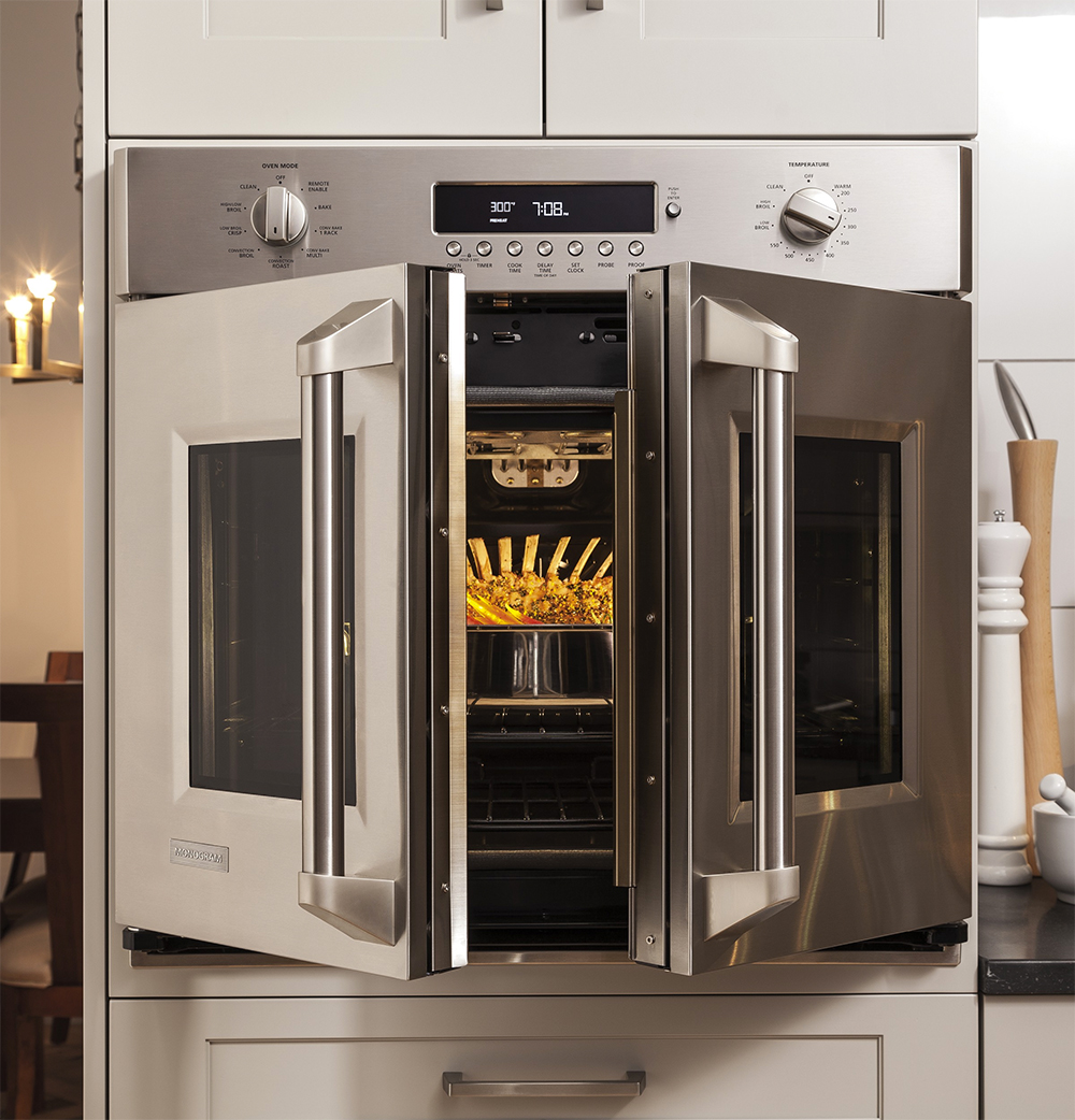Featured Appliances: GE Monogram French Door Oven & Pizza Oven ... on kitchen appliance, griddle appliance, blender appliance,
