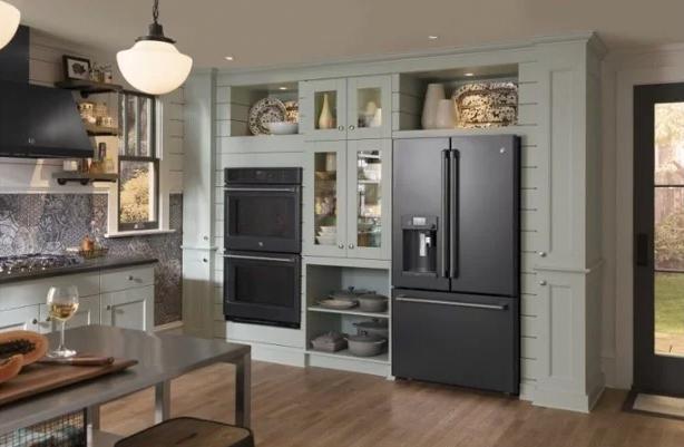 The Design Of Ge Black Slate Bray Amp Scarff Appliance