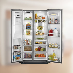 jennair side by side refrigeration