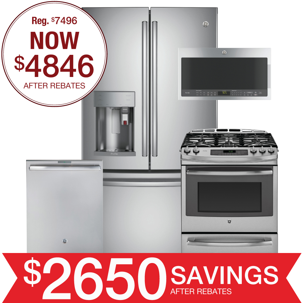 Discount Package Ge Profile Kitchen Suite