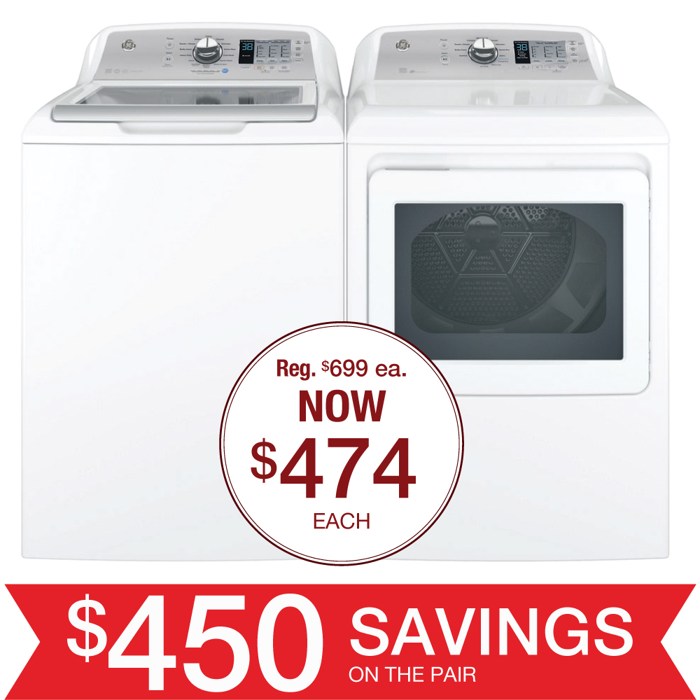 Discount Package Ge Top Load Laundry Pair