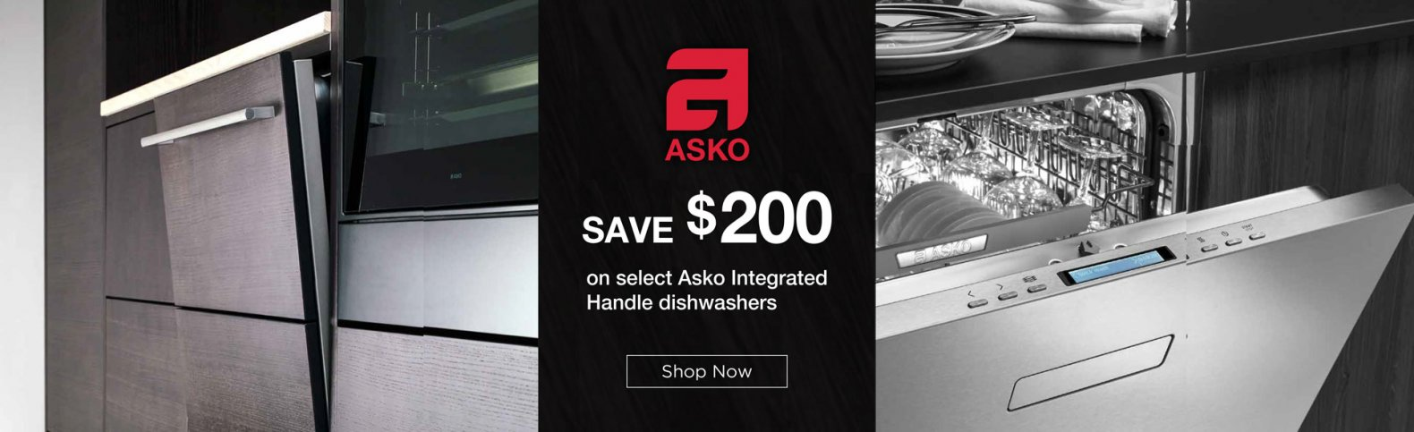 Save $200 on select Asko dishwashers