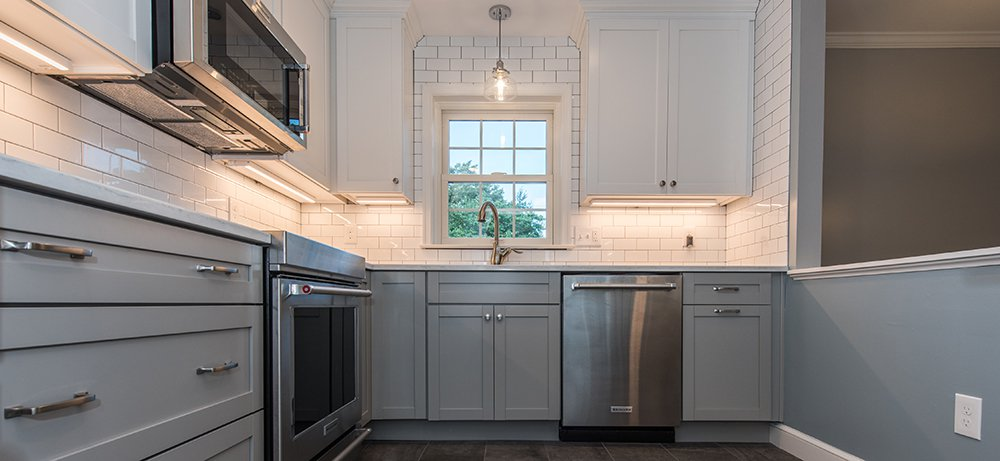 Attractive Two-Tone Kitchen in Arlington, VA with