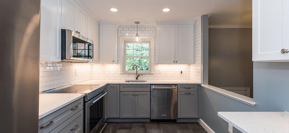 Attractive Two Tone Kitchen In Arlington Va With