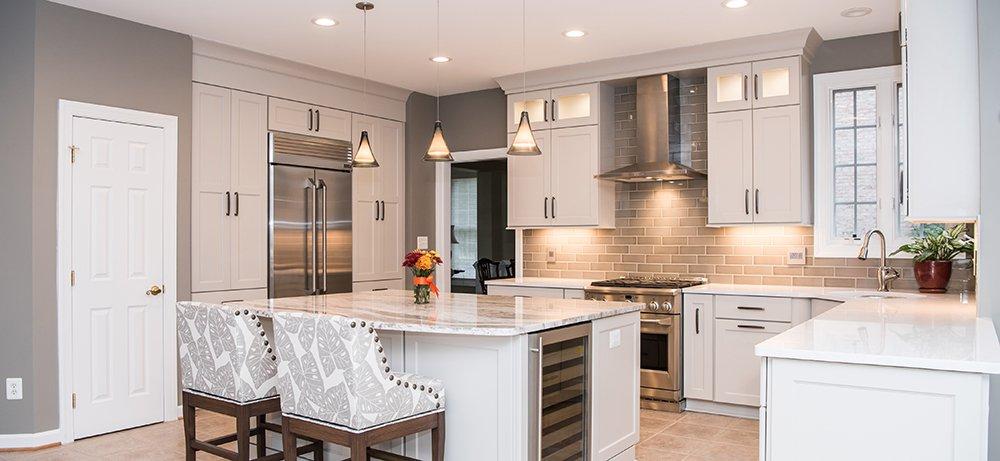 Bright Welcoming Kitchen In Fairfax Va With Ge Monogram