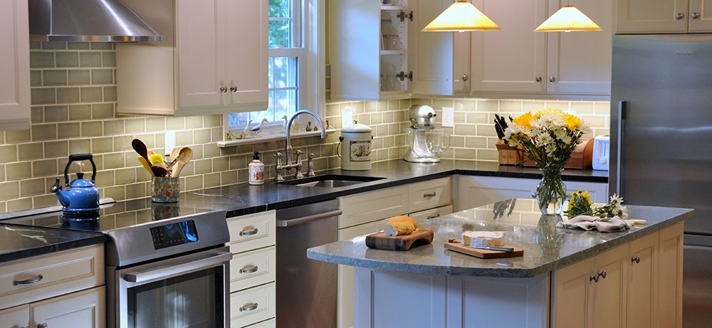 Comfortable White Kitchen In Silver Spring Md With Bosch Appliances And Omega Cabinetry Bray Scarff Appliance Kitchen Specialists Bray Scarff Appliance Kitchen Specialists