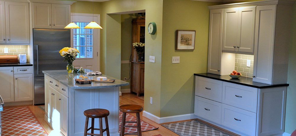 Comfortable White Kitchen In Silver Spring Md With Bosch