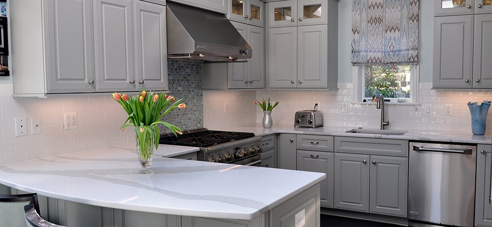 Inviting Grey Kitchen in Washington, DC with Monogram ...