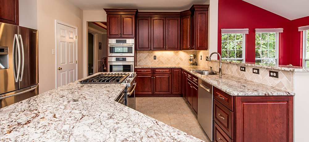 Palatial Cherry Kitchen In Damascus Md With Bosch And