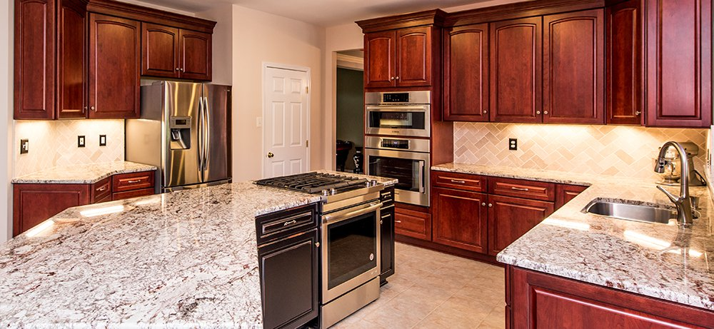 Palatial Cherry Kitchen In Damascus Md With Bosch And Jennair Appliances And Omega Cabinetry Bray Scarff Appliance Kitchen Specialists