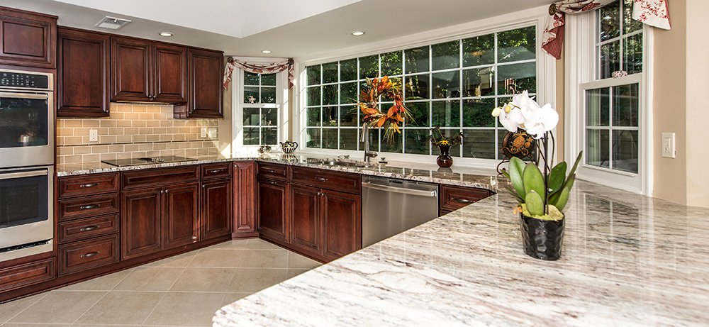 Rich cherry kitchen in silver spring md with ge profile for Silver spring italian kitchen